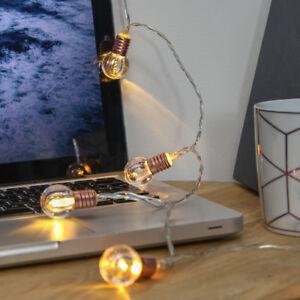 Luci Led Casa Prezzo.Dettagli Su 1 5m Batteria Power Mini Luci Led Festone Industriale Rose Gold Casa Camera Da Letto Mostra Il Titolo Originale