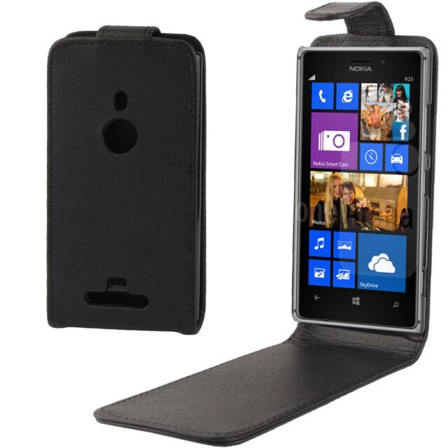 FlipCase Tasche Etui für Nokia Lumia 925 Schutzhülle schwarz Flip-Tasche