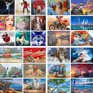 DIY-Digital-Paint-By-Number-Kit-Acrylic-Oil-Painting-Wild-Animal-Art-Home-Decor