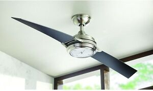 Unique integrated led clock light 56 ceiling fan remote 2 blade image is loading unique integrated led clock light 56 ceiling fan aloadofball Images