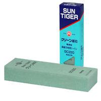 Japanese Sun Tiger 220 Grt Green Whetstone Sharpening Waterstone Sharpener/gc220