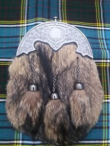 Responsable Scottish Kilt Sporran En Fourrure Renard Irlandais Shamrock Antique Candel Highland Kilt Wares-afficher Le Titre D'origine