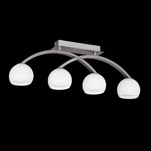Wofi-Deckenleuchte-Lynn-4-flg-Nickel-Glas-Kugel-weiss-132-Watt-1840-Lumen-Lampe