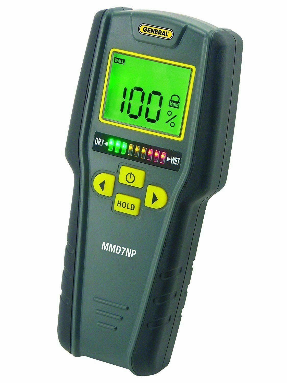 General Tools Moisture Meter, Pinless, Digital LCD with TriFarbe Bar Graph