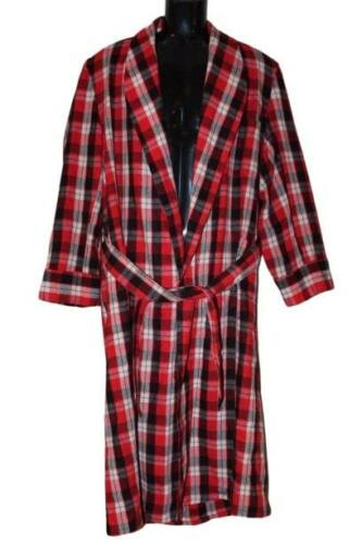 Vintage Pilgrim Beacon Fabric Robe Red Black Plaid