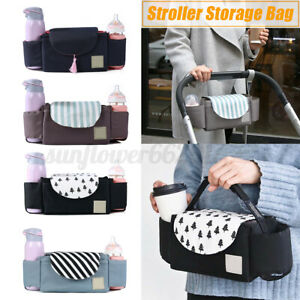Baby-Organiser-Cup-Bottle-Holder-Mummy-Nappy-Bag-Storage-Stroller-Pram