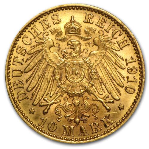 Random 1872-1913 Germany Gold 10 Marks Prussia Avg Circ SKU #14457