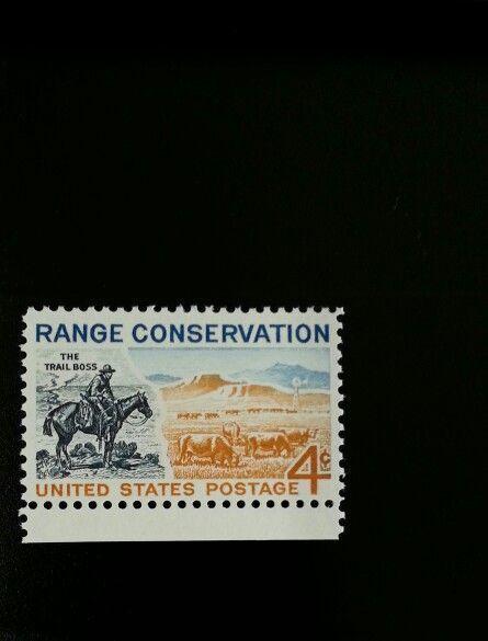 1961 4c Range Conservation, The Trail Boss Scott 1176 M