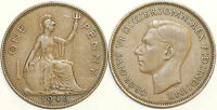 1937 to 1949 George VI Bronze Penny Your Choice of Date