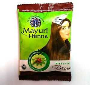 10 x Brown Herbal Mehndi Henna Hair Powder Indian Natural Ayurvedic ...