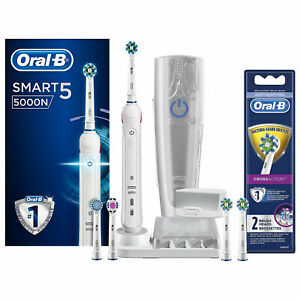 Oral-B-Smart-5-5000-CrossAction-Toothbrush-amp-Power-Refill-Cross-Action-2CT