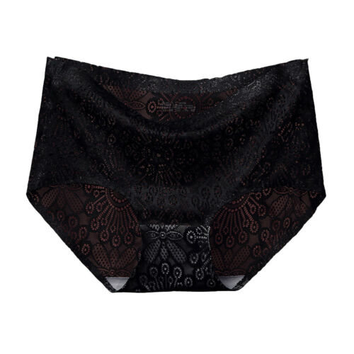 AM/_ LK/_ FH Hollow Lace Seamless Briefs Underwear Women Solid Color Knickers Pan
