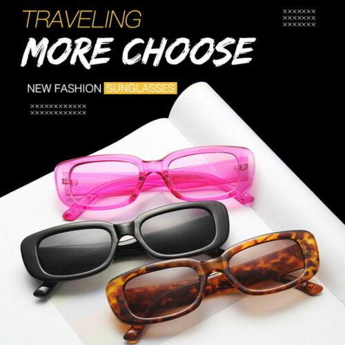 2020 Rectangle Sunglasses Leopard Summer Sun Glasses Retro Square UV400 Unisex