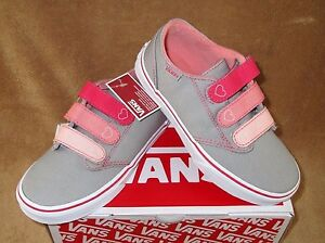 Details about NEW VANS MADDIE V CANVAS SHOE GREYPINKCORAL YOUTH 10.5,1, 1.5,2, 2.5,3, 3.5, 4