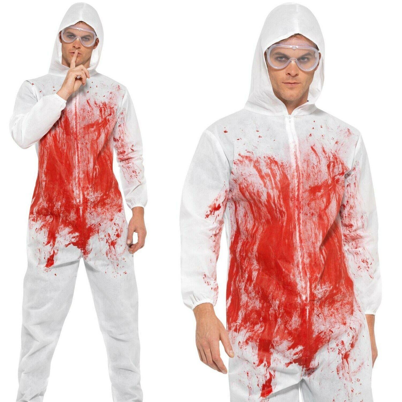 Bloody Forensic Overall - Fancy Dress Costume Halloween Murderer Killer