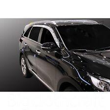 New Chrome Side Window Vent Visors Rain Guards for Kia 2016 Sorento (All New)
