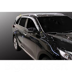 New Chrome Side Window Vent Visors Rain Guards For Kia