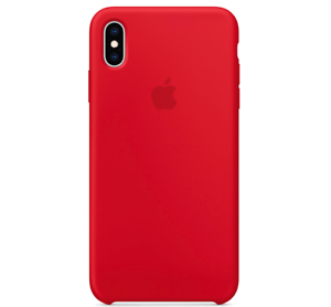 Echt-Original-Apple-iPhone-XS-Silikon-Huelle-Silicone-Case-Red-Rot