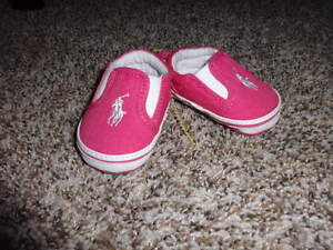 reputable site coupon code look for Details about NEW POLO RALPH LAUREN 0 PINK INFANT BABY GIRL SHOES