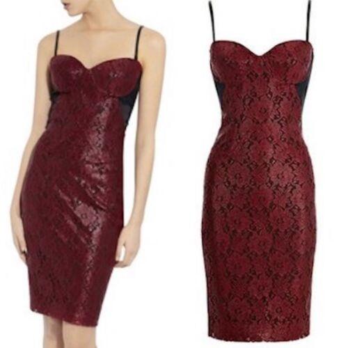 corsé negro mujer Evening de revestimiento de Sz rojo con Cocktail Vestido de Uk lápiz encaje qFgpIIw