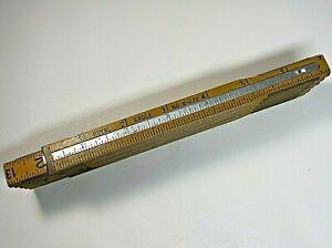 Vintage-Folding-Extension-Ruler-Royal-Eagle-No-X-672-Wood-Brass-72-034-6ft-USA