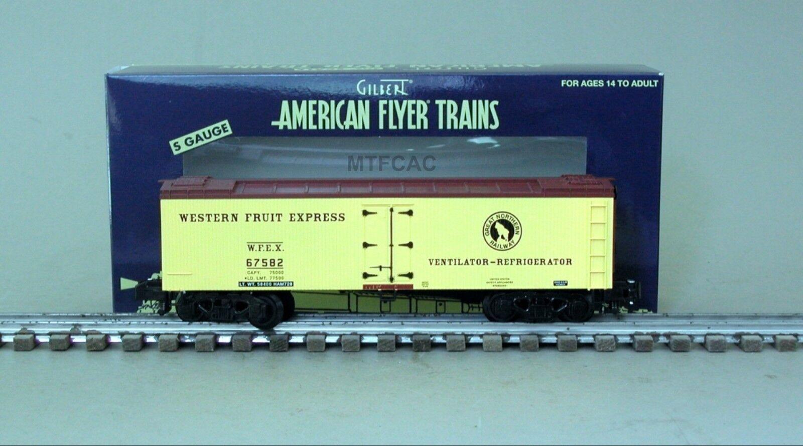 American Flyer 6-44141 Western Fruit Express Wood Side Refrigerator Car 67582