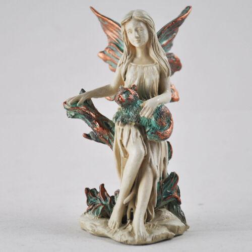 Forest Fairy Four Sisters Copper Winged White Sculpture Figurine Art Deco 39766