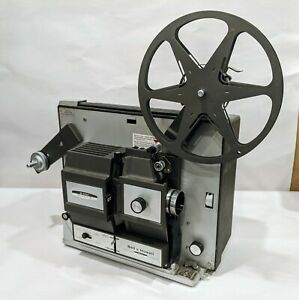 Vintage-BELL-amp-HOWELL-Super-8-8MM-Design-456-Portable-Movie-Projector-TESTED