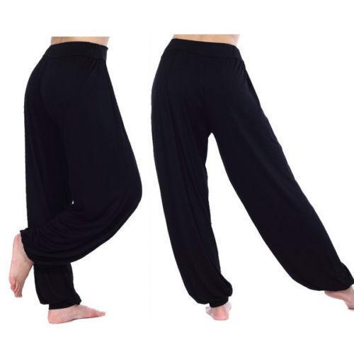 Para Dama Liso Pantalones Haren Ali Baba Leggings Holgado Aladino Boho Hippy Control Ar Com Ar