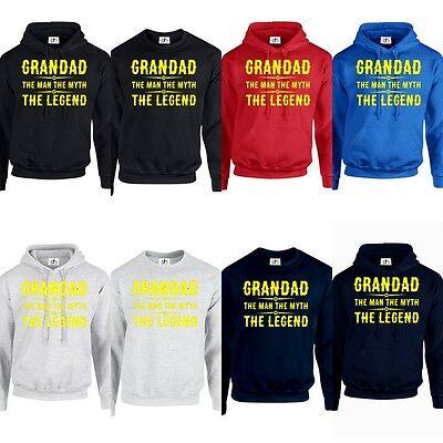 Grandad the man the myth the legend Sweatshirt Sweat Shirt Jumper S to 7XL