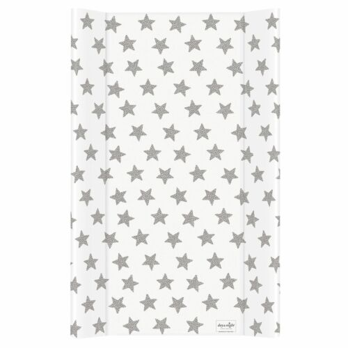 White Stars Hard Base Changing Mat Unit 80x50 cm to fit 140x70 Cot Top