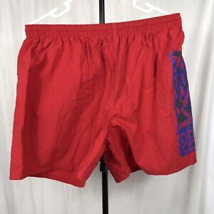 d932579cb9de5 Vintage Hobie Mens Small Red Shorts Swim Trunks Lined Surf Skate ...