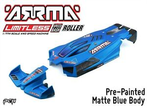 ARRMA-LIMITLESS-1-7-All-Road-Roller-Pre-Painted-Matte-Blue-Body-ARA410004