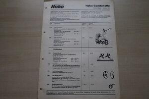 163640) Hako Combinette-prix & Outils-brochure 12/1975-afficher Le Titre D'origine CoûT ModéRé