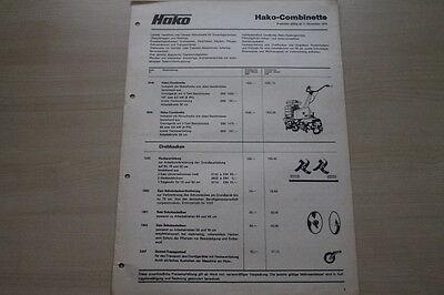 Hako Combinette Sonnig 163640 Prospekt 12/1975 Ungleiche Leistung Preise & Extras