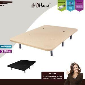 Base-Tapizada-3D-Negra-o-Crema-Reforzada-Acero-4-o-6-patas-bases-tapizadas