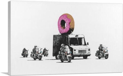 ARTCANVAS Donut Police Canvas Art Print by Banksy