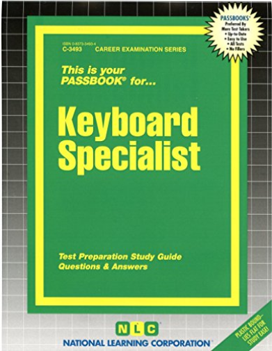 National Learning Corporation-Keyboard Specialist BOOK NEW
