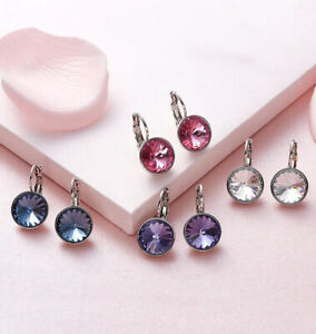 Swarovski-Elements-Crystal-Bella-Pierced-Earrings-White-Gold-Filled-5-Options