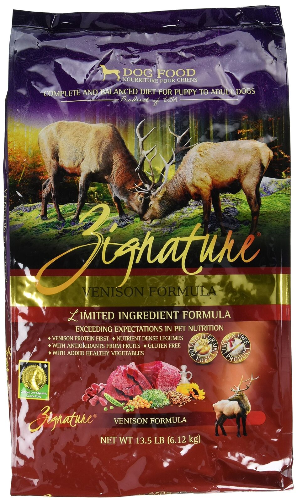 ZIGNATURE Dog Dog Dog Food Venison (13.5 lb) 0bcb3a