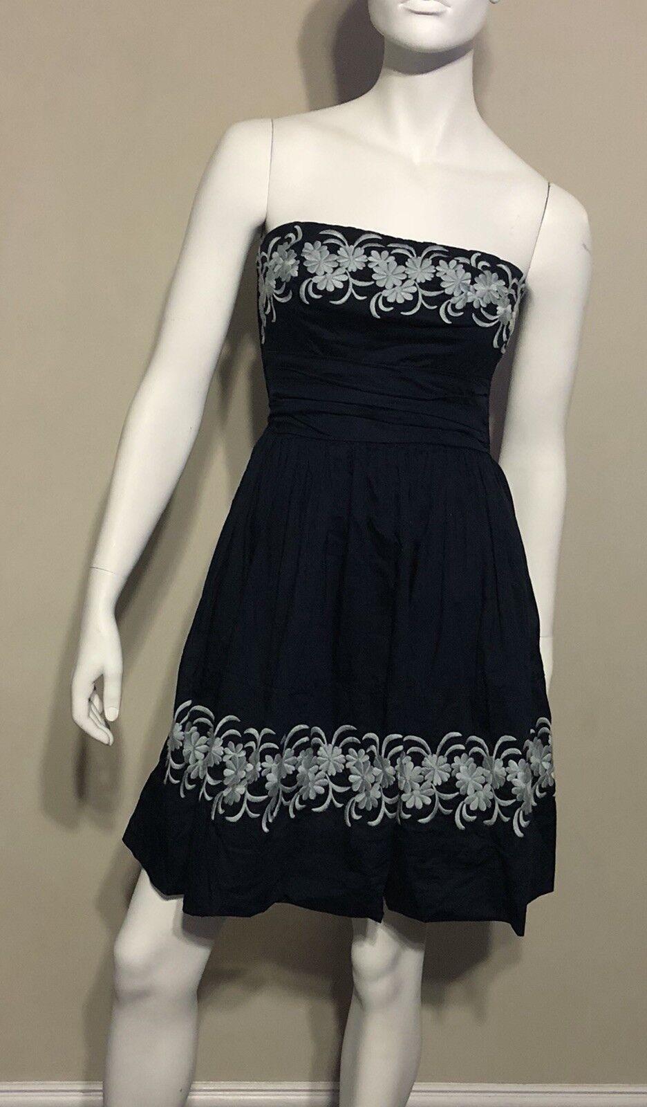 Anthropologie Girls from Savoy bluee Around the Maypole Dress Size 4