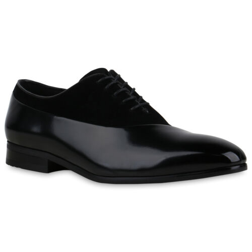 Herren Klassische Lack-Optik Blockabsatz Business Schuhe 900405 Mens Special