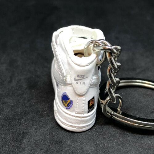 AIR FORCE 1 AF1 MID SUPREME NBA WHITE 3D JORDAN KEYCHAIN SNEAKER SHOE 1:6 FIGURE