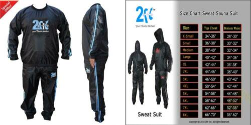Heavy Duty Sweat Suit Sauna Exercise Gym Fitness Weight Loss 8XL