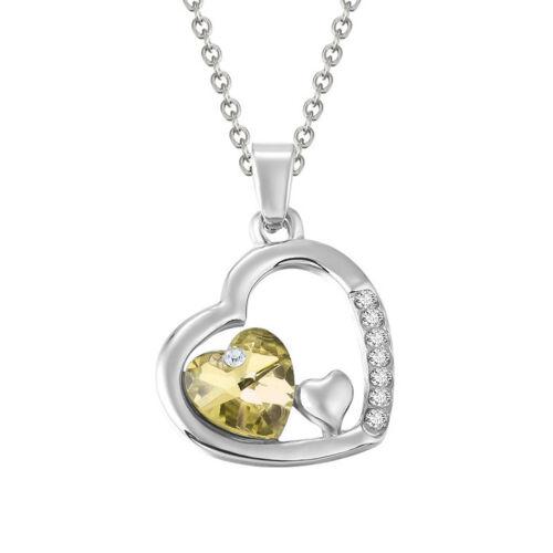 Collier Boucle D/'oreille Coeur Pendentif Chaîne Strass Bijoux Fantaisie Cadeau