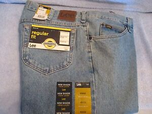 Men's Jeans LEE Size 40 32 STONE WASHED REGULAR FIT STRAIGHT LEG NWT