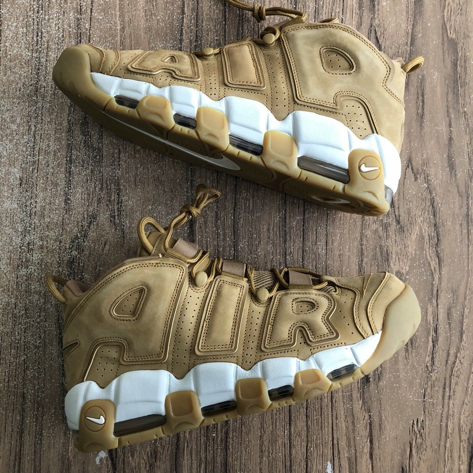 Nike Air More Uptempo 96 Prm Flax Wheat AA4060-200 Mens Size 12.5 NEW