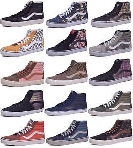 Vans-Sk8-Hi-Suede-Canvas-Skateboard-Shoes-Men-Women-Choose-Colors-amp-Sizes