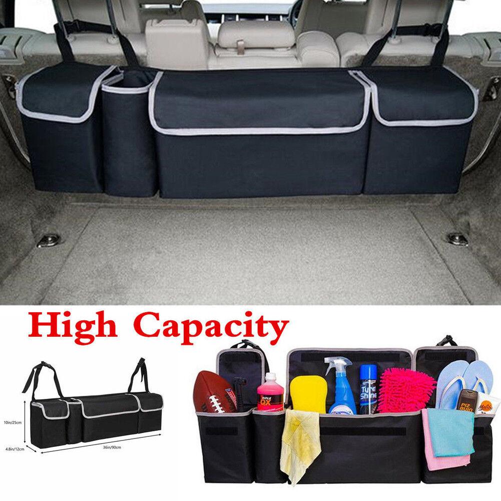 Car Seat Back Storage Organizer Interior Multi-Use Multi-Pocket Bag Accessory JT