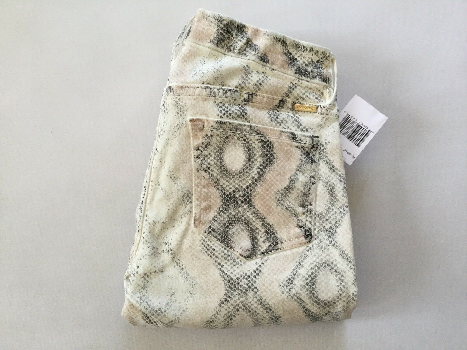 Guess By Marciano The Skinny No. 61 Jeans Snake Embossed Print Size 32
